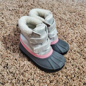 Gymboree | Toddler Grey Shimmer Snow Boots 5